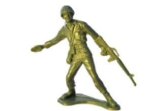Plastic army man