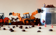 Miniature construction workers