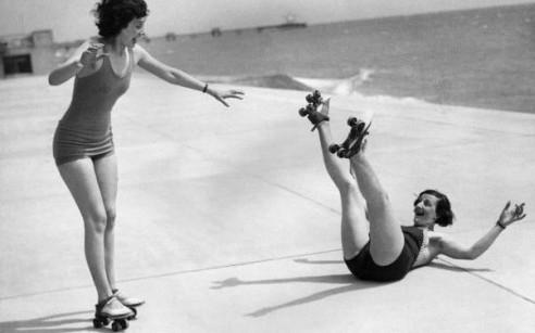 Vintage roller skating