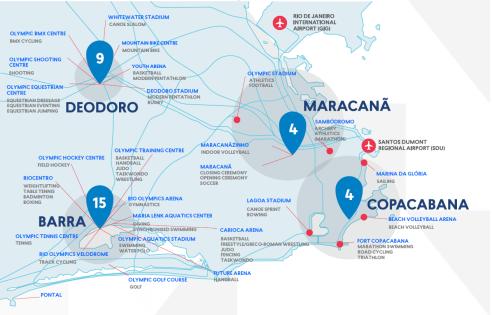 Rio 2016 map