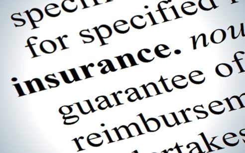 Image of the word Insurance and part of its definition from a dictionary