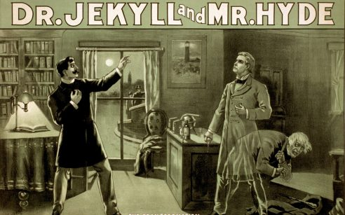 Illustration of Dr. Jekyll and Mr. Hyde